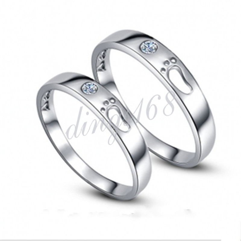 # GIFT FOR Mother # 925 Sterling Silver Crystal Footprint Co